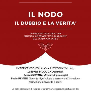 Il nodo. Il dubbio e la verità, un incontro con Ambra Angiolini e Ludovica Modugno